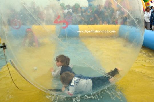 In a bubble...
