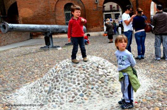 Estense Castle Ferrara Cannon