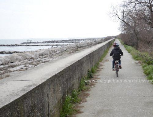 Biking in the Venice's lagoon