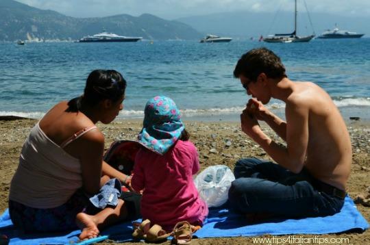picnic beach portofino