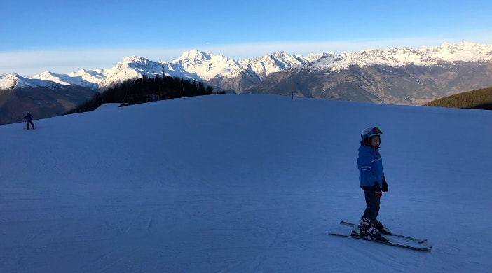 skiing with kids aosta valley