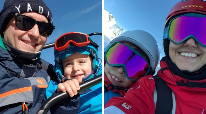 winter in italy with kids