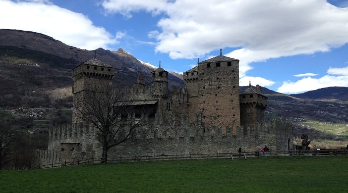 Fenis castle in Aosta Valley Italy