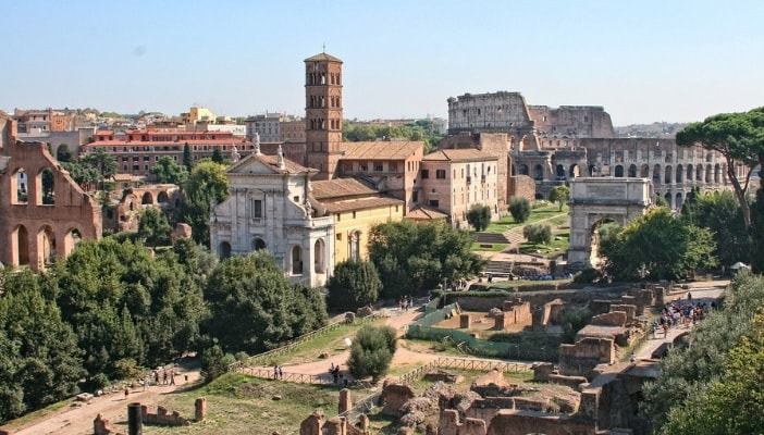 the roman forum with kids