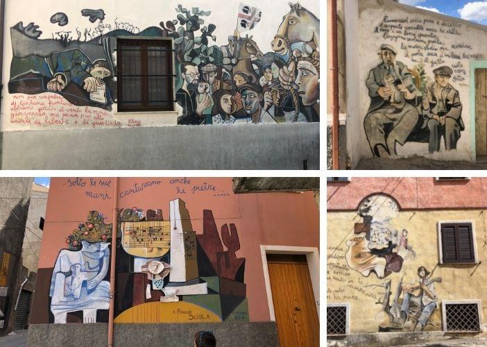 explore the street art in Orgosolo